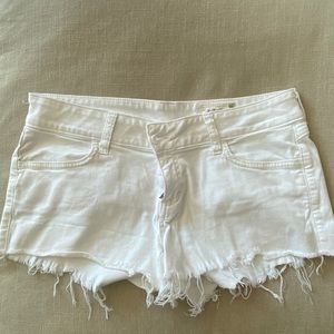 Siwy White Jean Shorts